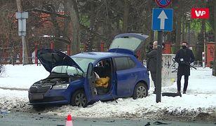 Wypadek z udziałem auta SOP. Mamy nagranie