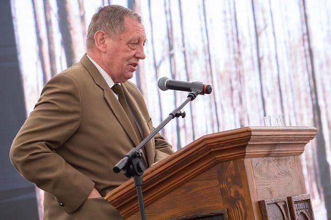 Minister Jan Szyszko na konferencji leśników we wrześniu 2016 r.