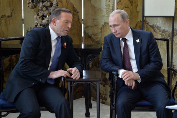 Władimir Putin i Tony Abbott