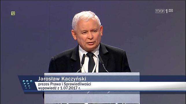 """""""Wiadomości"""" TVP przekonują o bezwzględności PiS wobec patologii."""
