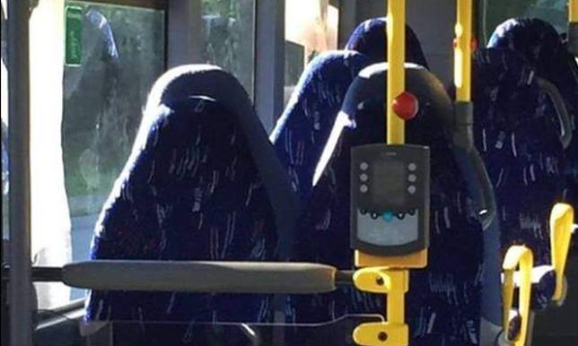 Wpadka narodowców. Pomylili puste siedzenia w autobusie z kobietami w burkach