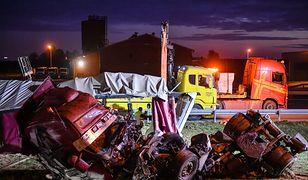 Lublin. Wypadek ciężarówki na obwodnicy