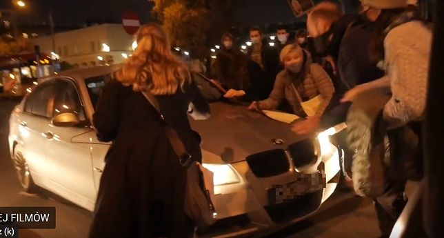 Strajk Kobiet. Potrącił protestujących. Policja szuka sprawcy