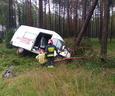 Pomorskie. Ranni w wypadku na DK22. Bus uderzył w drzewo