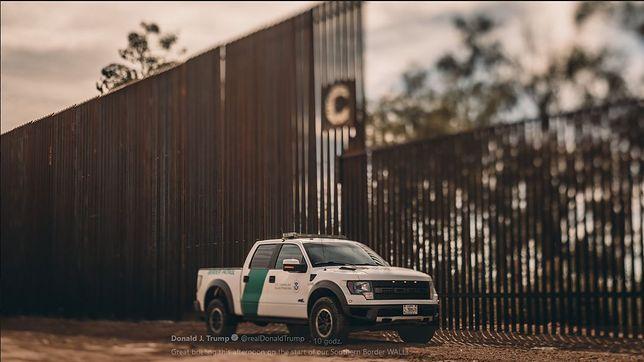 Mur w budowie. Trump opublikował zdjęcia