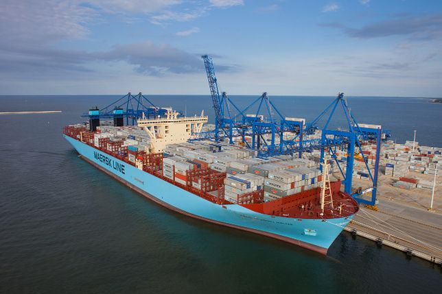 Maersk Triple-E - gigant w Polsce. Relacja wideo