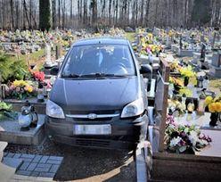 Orzesze. 88-latek wjechał na cmentarz. Zniszczył 22 nagrobki