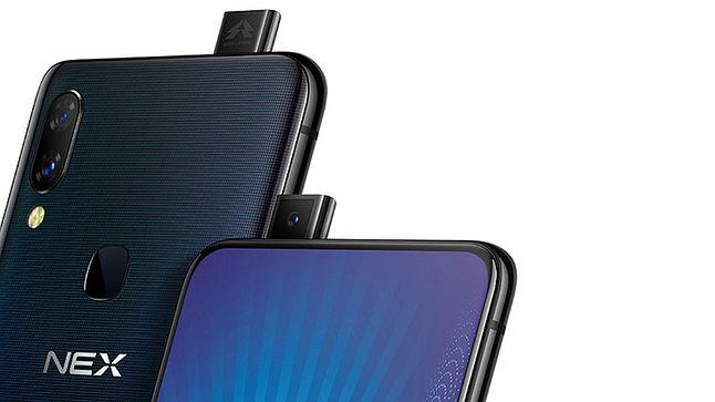 Smartfony Vivo z dyskusyjnej urody, mechanicznie wysuwanym aparatem do selfie, źródło: ndtv.gadgets.com.