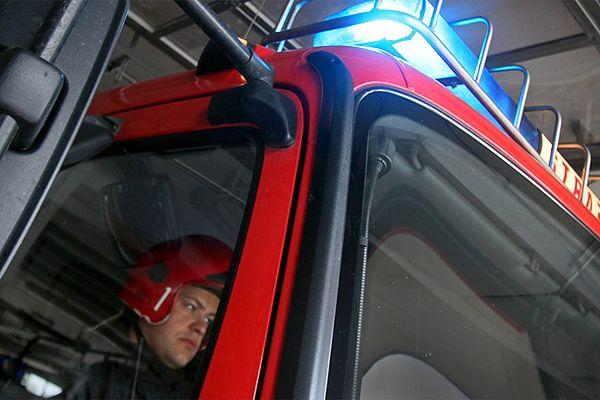 Pożar autobusu w Rudzie Śląskiej