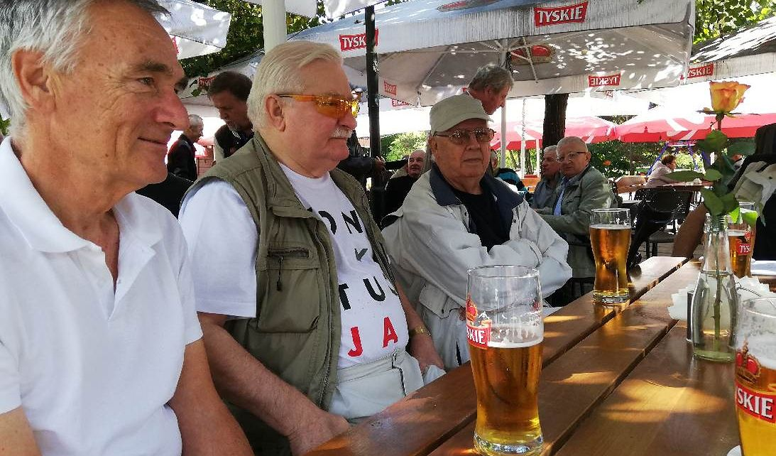 Klaus Bartel, Lech Wałęsa i były kierownik Wałęsy z W4 Stefan Konkel