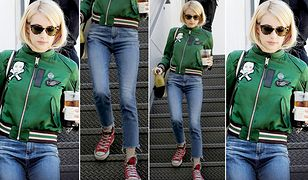 LOOK OF THE DAY: Emma Roberts w bomberce Coach