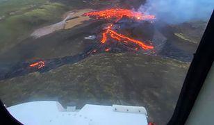 Erupcja wulkanu pod Reykjavikiem. Niesamowite zdjęcia z Islandii