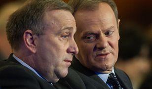 Grzegorz Schetyna i Donald Tusk - były i obecny lider PO
