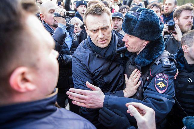 Nawalny zatrzymany przez policję