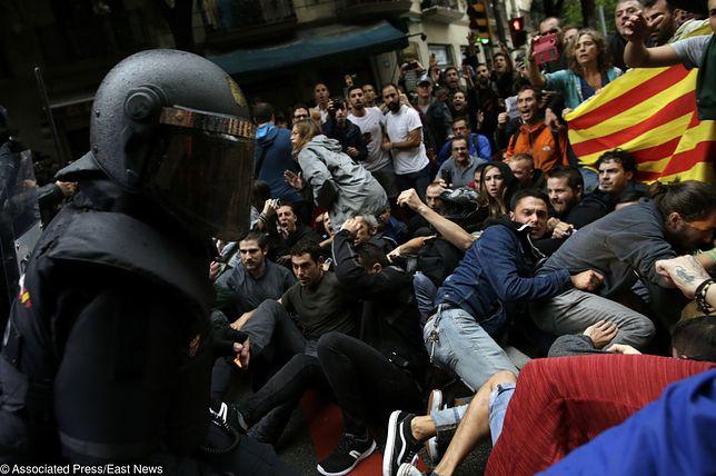 Policja użyła siły w czasie referendum w Katalonii
