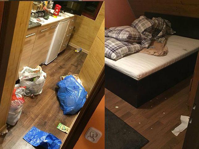 Młodociani turyści z Warszawy pozostawili po sobie w apartamencie niewyobrażalny brud i szkody.