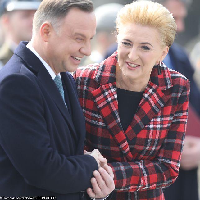 Prezydent Andrzej Duda oraz pierwsza dama Agata Kornhauser-Duda