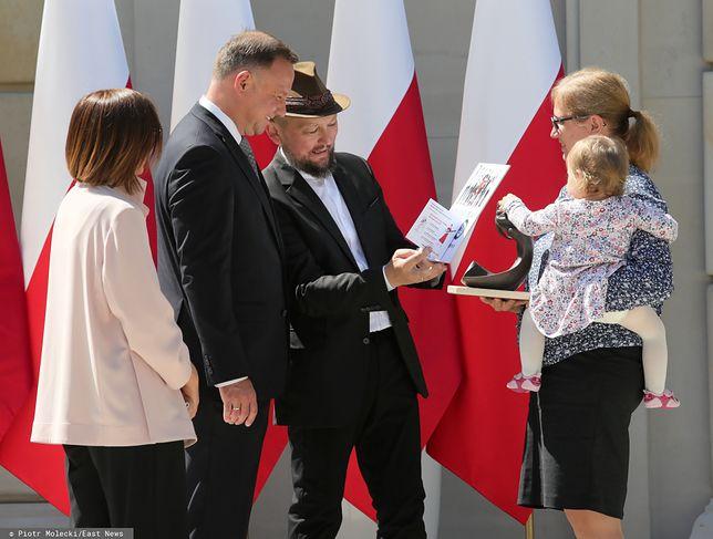 Joszko Broda z bliskimi u prezydenta