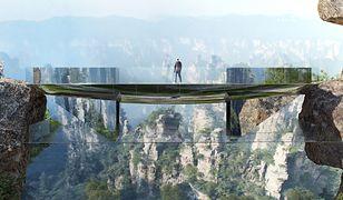 Chiny – przeźroczysty most w Parku Narodowym Zhangjiajie