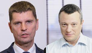 Szef MEN Dariusz Piontkowski i Maciej Knapik z TVN
