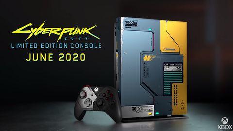 Xbox One X w limitowanej edycji Cyberpunk 2077. Świeci w ciemności