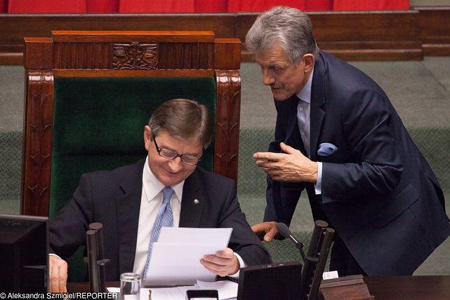 Marszałek Marek Kuchciński i przewodniczący Komisji Sprawiedliwości Stanisław Piotrowicz.