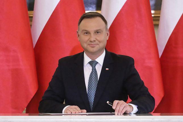 Andrzej Duda w Polsat News. Rozmawia m.in. o Fort Trump