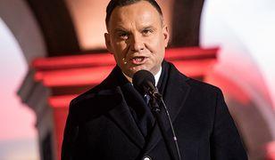 Andrzej Duda przemawiał podczas obchodów 50. rocznicy Marca '68