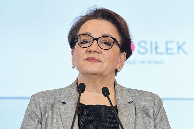 Minister edukacji, Anna Zalewska.