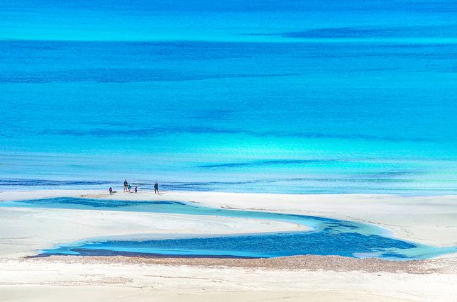 Elafonisi. Kreta. Rajskie laguny