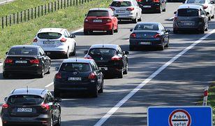 Korek na A1 przed punktem poboru opłat w Nowej Wsi Wielkiej