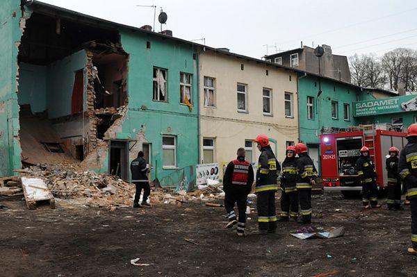 Wybuch w Bydgoszczy, zasypało 2 osoby - zdjęcia