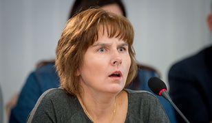 Magda Brzeska, córka zamordowanej Jolanty Brzeskiej, podczas posiedzenia komisji weryfikacyjnej