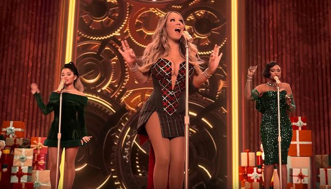 Mariah Carey, Ariana Grande i Jennifer Hudson (fot. YouTube)