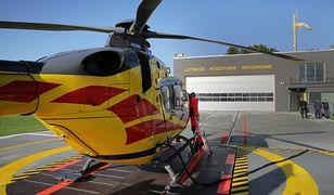 Kraków. Jedna z dziewczynek została przetransportowana helikopterem ratunkowym