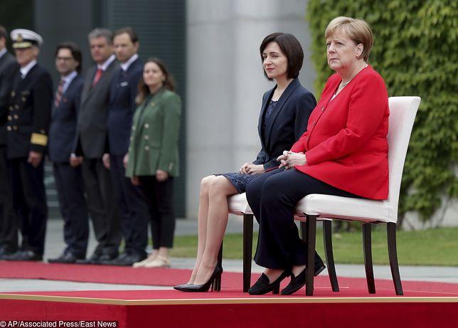 Maia Sandu i Angela Merkel