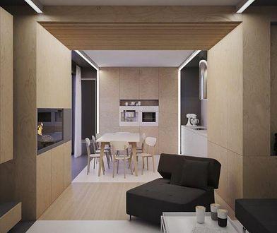 Wnętrze pod kreskę, czyli połączenie dwóch mieszkań