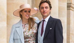 Księżniczka Beatrice i Edoardo Mapelli Mozzi na ślubie