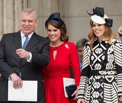Książę Andrzej z córkami, księżniczką Beatrice i Eugenią