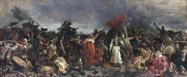 """Obraz Witolda Piwnickiego """"Bitwa pod Cecorą"""""""