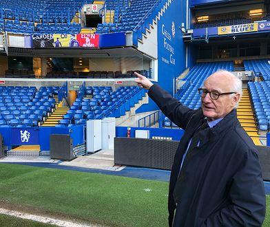 Prezes Chelsea F.C. Bruce Buck na stadionie klubu w Londynie