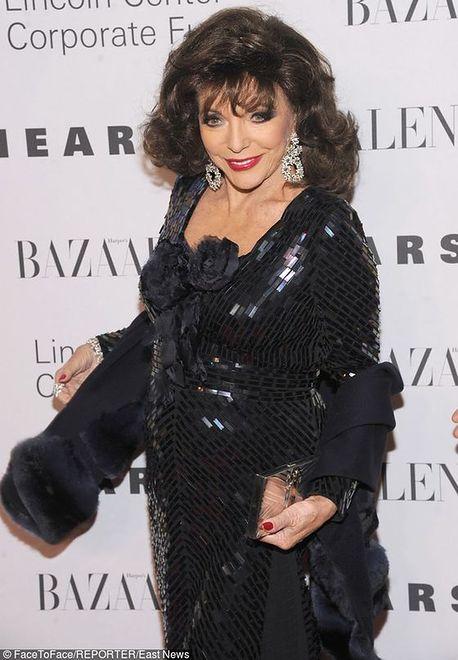 Joan Collins na imprezie Valentino