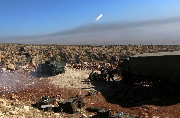 Siły irackich Kurdów podczas ofensywy na Sindżar