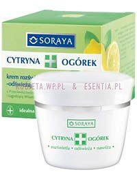 Krem rozświetlająco - odświeżający z wyciągiem z cytryny i ogórka oraz przeciwstarzeniową witaminą C i łagodzącą witaminą B5.Do każdego rodzaju skóry, zwłaszcza normalnej i mieszanej.