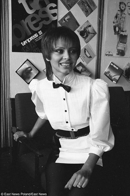 Izabela Trojanowska w latach 80.