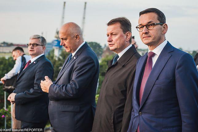 Mateusz Morawiecki, Mariusz Błaszczak i Joachim Brudziński rozmawiali w piątek w Sejmie