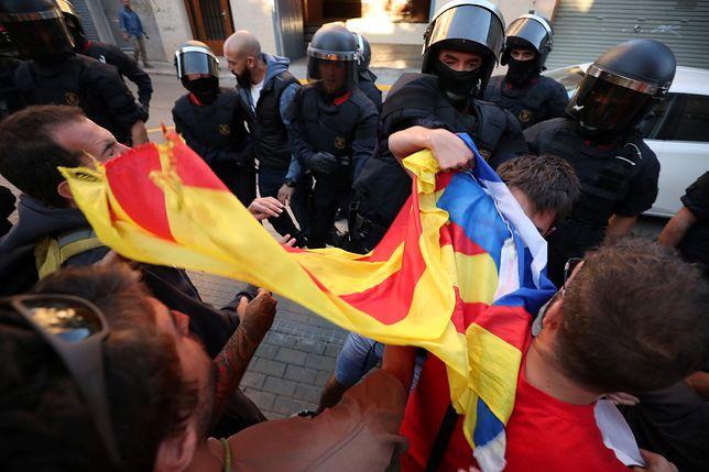 Starcie między zwolennikami niepodległości Katalonii a policją
