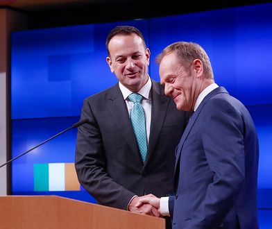 Donald Tusk podczas spotkania z premierem Irlandii Leo Varadkarem
