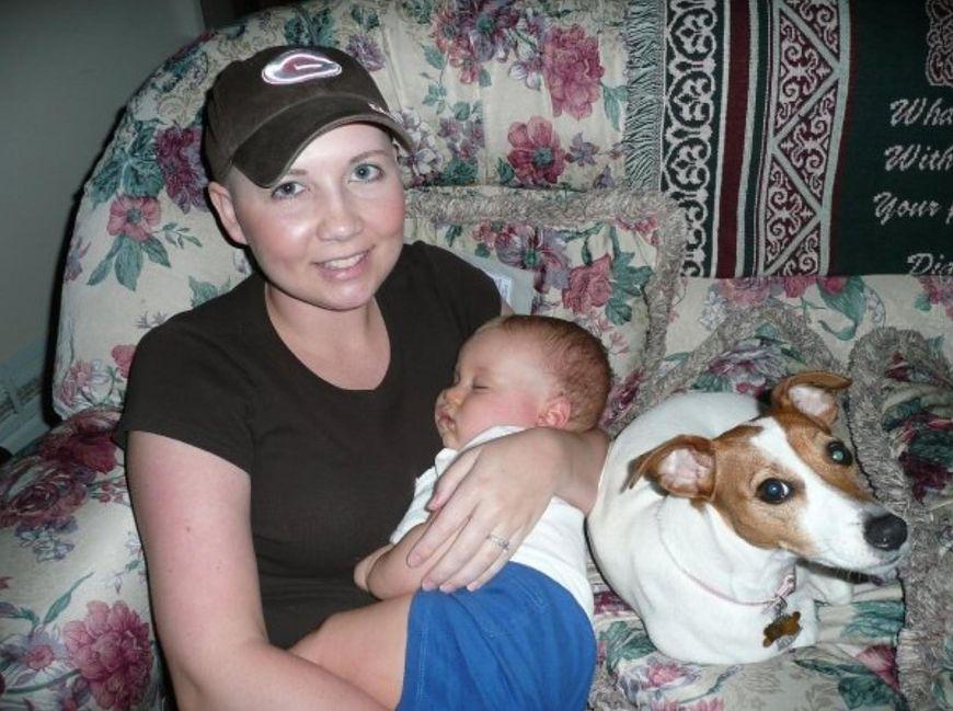 Ashley Hallford z synkiem