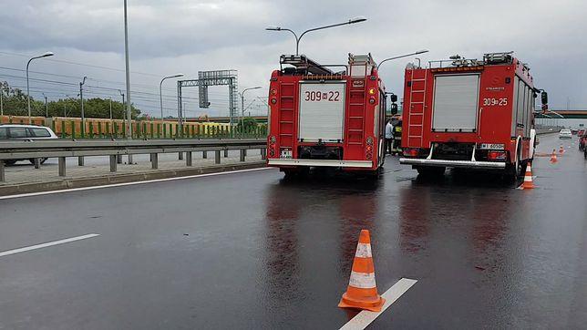 Wypadek na ekspresówce w Warszawie. Są utrudnienia w ruchu